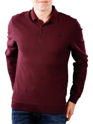 Fred Perry Honeycomb Texture Polo deep mahogany