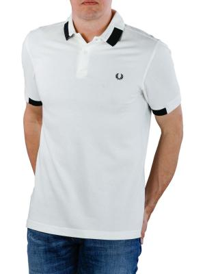 Fred Perry Block Tipped Pique Shirt snow white
