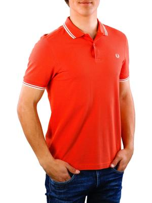 Fred Perry Twin Tipped Shirt peach red