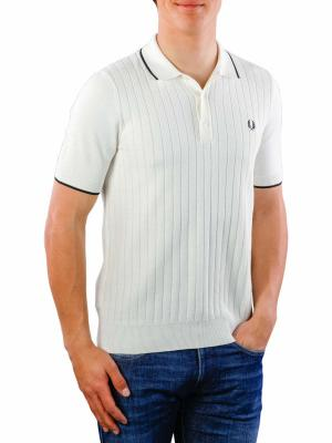 Fred Perry Textured Front Knitted Shirt light ecru