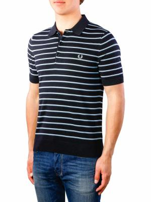 Fred Perry Fine Stripe Knitted Shirt navy