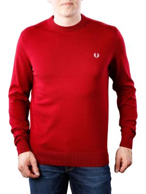 Fred Perry Classic Cotton Crew Neck dark red
