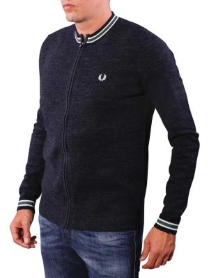 Fred Perry Budding Yarn Zip Sweater blue granite