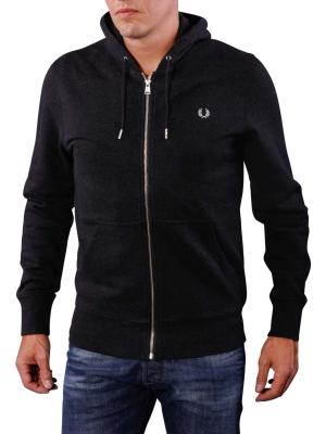Fred Perry Loopback Hooded Sweat black marl