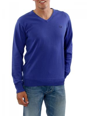 Fred Perry V-Neck Cotton rich blue