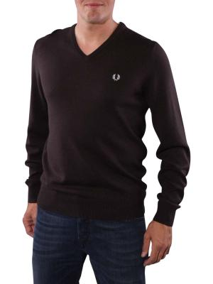 Fred Perry Classic Tipped V-Neck liquorice