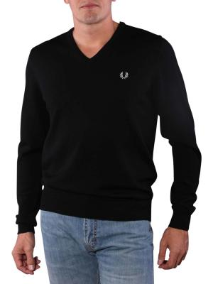 Fred Perry Classic V-Neck Sweater black