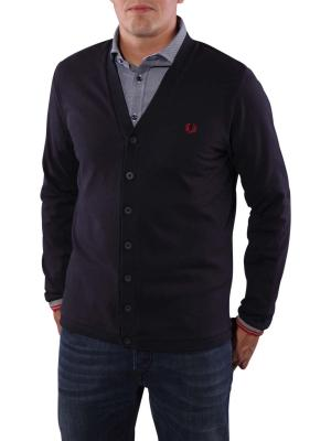 Fred Perry Piqué Cardigan navy