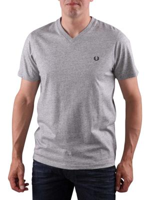 Fred Perry V-Neck T-Shirt vintage steel marl