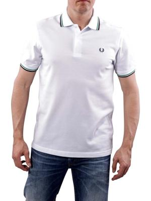 Fred Perry Polo white/green/carbon