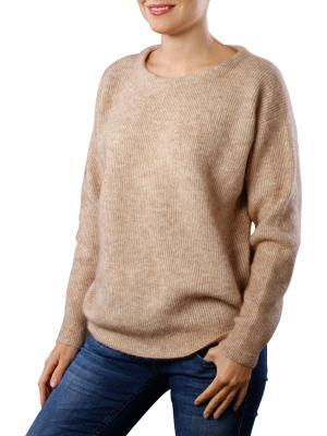 Yaya Rib Knitted Sweater pink sand melange