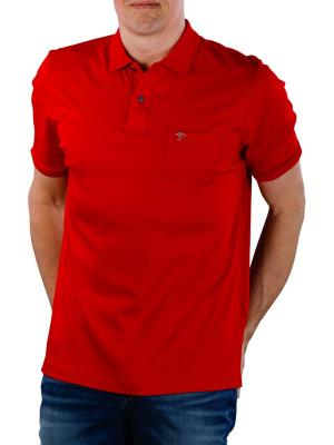Fynch-Hatton Polo Chest Pocket Interlock sangria