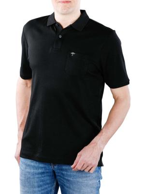 Fynch-Hatton Polo Chest Pocket Interlock black