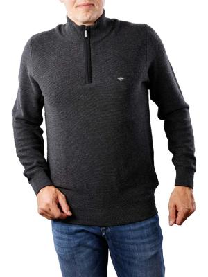 Fynch-Hatton Troyer Zip Sweater charcoal