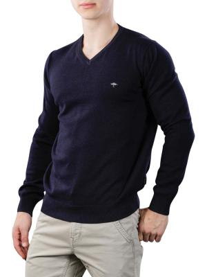 Fynch-Hatton V-Neck Sweater navy