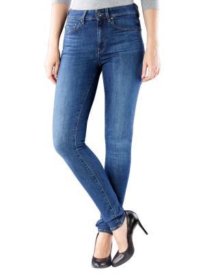 G-Star 3301 High Skinny Jeans medium blue aged