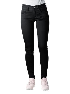 G-Star Lynn Mid Super Skinny Yield Black Stretch pitch black