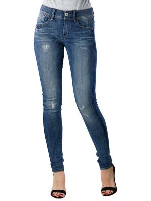 G-Star Lynn Mid Skinny Trender Stretch faded blue destroy