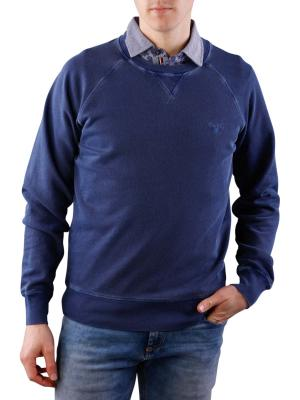 Gant Sunbleached Crew Neck Sweat persian blue