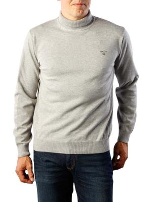 Gant Light Weight Cotton Turtle Neck grey melange