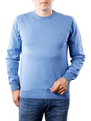 Gant Cotton Wool Crew blue melange