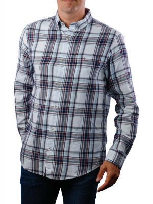 Gant D2 WB Flannel Indigo Reg BD Shirt white