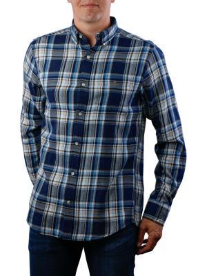 Gant D2 WB Flannel Indigo Reg BD Shirt dark indigo