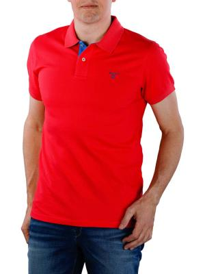 Gant Contrast Collar Pique SS Rugger watermelon red