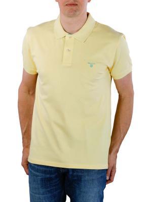 Gant Contrast Collar Pique SS Rugger lemon