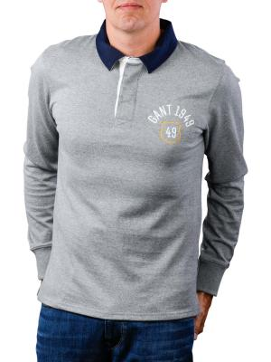 Gant D1 Graphic Heavy Rugger grey melange