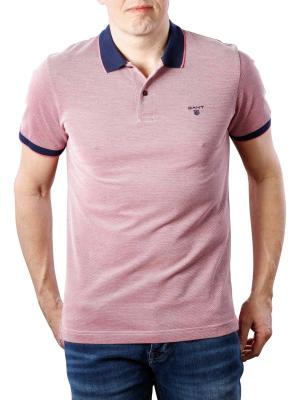 Gant 4 Col Oxford Pique SS Rugger rose red