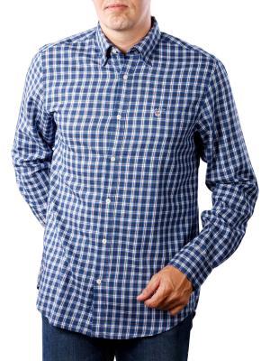 Gant Indigo Twill Check Reg indigo blue
