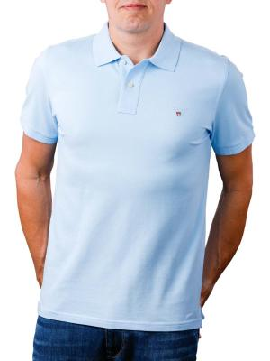 Gant The Original Pique SS Rugger Polo Shirt capri blue