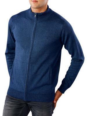 Gant Light Weight Cotton Zip Cardigan dark jeansblue melange