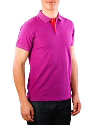 Gant Contrast Collar Pique SS Rugger purpur