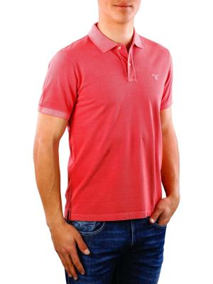 Gant Sunbleached Pique SS Rugger mineral red
