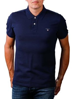 Gant The Original Pique SS Rugger Polo Shirt evening blue