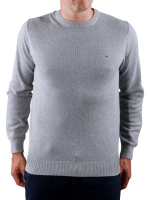 Gant Cotton Pique Crew grey