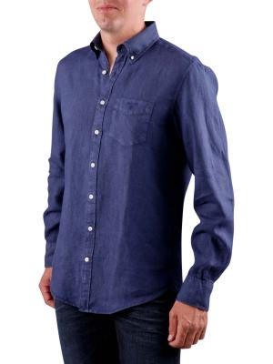 Gant The Linen Shirt classic blue