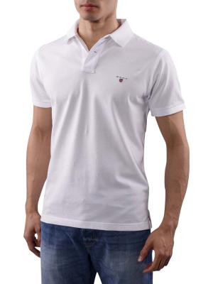 Gant The Original Pique SS Rugger Polo Shirt white