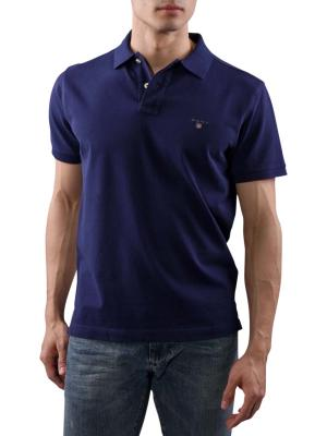 Gant Solid Piqué SS Rugger evening blue