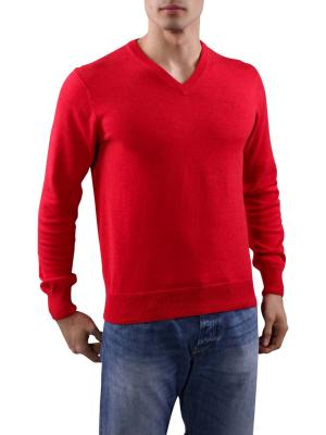 Gant Light Weight Cotton V-Neck bright red