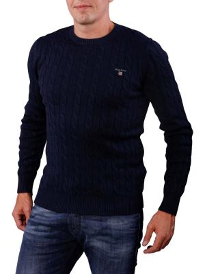 Gant Cotton Cable Crew Sweater evening blue