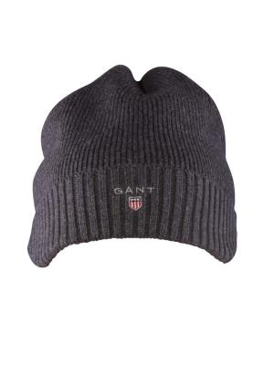 Gant Cotton Knit Beanie antracit melange