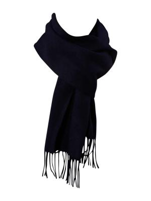 Gant Solid Lambswool Woven Scarf navy