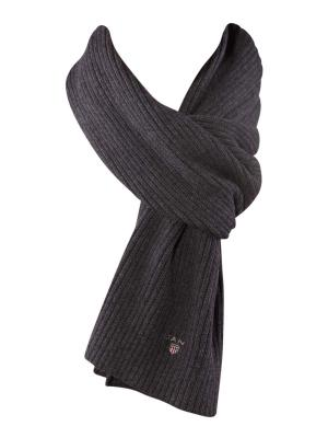 Gant Cotton Rib Knit Scarf antracit