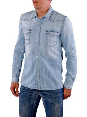 Tommy Jeans Gratton Shirt light blue