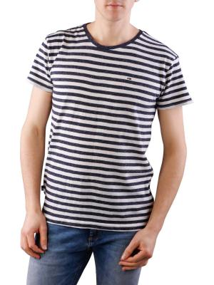 Tommy Jeans Basic Stripe Knit T-Shirt black iris