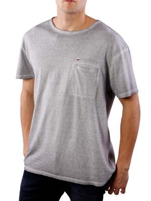 Tommy Jeans Fine Stripe CN Knit T-Shirt alloy