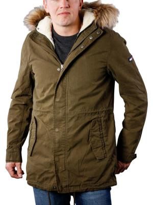 Tommy Jeans Lined Parka forest night